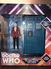 """Doctor Who The Third 3rd Dr And Tardis B&M 5.5"""" Collector Figure Set DAMAGED BOX"""