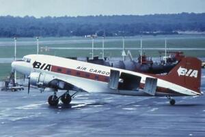 35mm Aircraft Slide BIA Air Cargo G-AMRA Douglas C-47 Skytrain