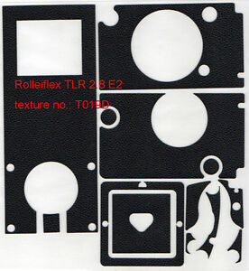 Rolleiflex 2.8E2 TLR replacement leatherette cover precisely cut self-adhesive!