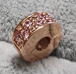 Pandora ROSE Charm Clip 781817PCZ Shining Elegance Pink CZ ALE R