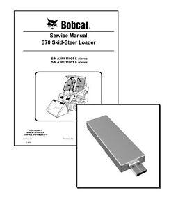New Bobcat S70 Skid Steer Loader Workshop Repair Service Manual USB stick + DL