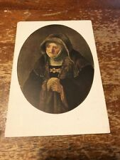 Postcard 1113-A Rembrandt Portait of the Arist's mother Vienna