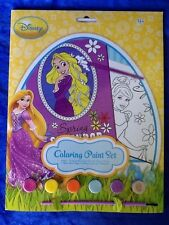 Disney Princess Coloring Paint Set Art Spring Theme Rapunzel And Cinderella NEW