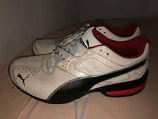 Puma, White & Red Mens Shoes - Size 8 (Great Condition)