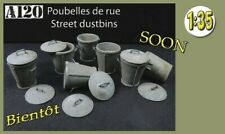 1/35 Scale resin model Dustbins / Trashcans diorama accessories