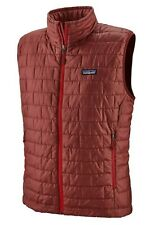 Patagonia Men's Large Nano Puff Vest (84242) - New with Tags - Oxide Red Color