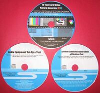 AU TV Test Card DVD - Equipment Set-Up CD - Audio Rattles & Vibrations CD 3 Disc