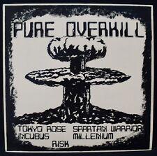PURE OVERKILL-Rare 80's Hard Rock Compilation Album-GUARDIAN RECORDS UK Import