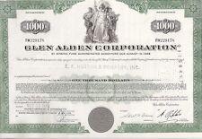 GLEN ALDEN CORPORATION.........1968 DEBENTURE CERTIFICATE