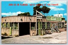 Join us in Florida at the Beacon Shack Hotel Vacation Chrome Postcard Unused