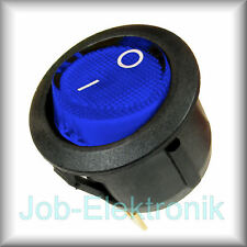 Wippschalter 0-1 1-polig beleuchtet blau Schalter Kippschalter Netzschalter 230V