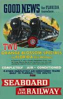Orange Blossom Special Poster Florida 1936 Seaboard RR