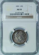 1892 NGC AU55 Barber Quarter