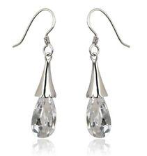 NEW Clear Crystal Drop Earrings