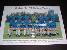 CHELSEA FC 1970 FA CUP PETER BONETTI PETER OSGOOD ALAN HUDSON EXCLUSIVE A4 PRINT