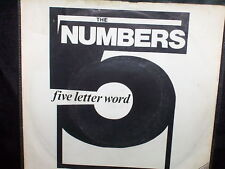 """THE NUMBERS A FIVE LETTER WORD - RARE UK 7"""" 45 VINYL RECORD P/S"""