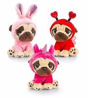 Keel Toys Pugsley 14cm Pug Dog 3 Designs Cuddly Soft Toy Teddy Plush SD0794