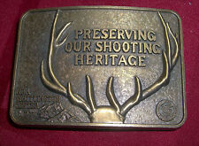 BELT BUCKLE -- NRA WHITTINGTON CENTER -- PRESERVING OUR SHOOTING HERITAGE