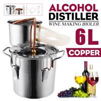 6L Alkohol Destillieranlage Schnapsbrennen Kühler Alkohol Öle Wasser Kupfer