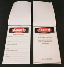 100 Pack of Danger Do Not Operate Self Laminating Lockout Tags B&S Printing
