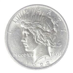 1922-D Peace Dollar Uncirculated JO/2271