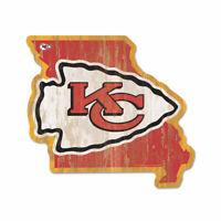 Kansas City Chiefs Holzschild NFL Football Bundesstaat USA Amerika