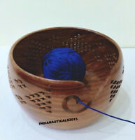 Handmade Knitting Crochet Wood Crafted Wooden Yarn Storage Bowl Christmas Gift