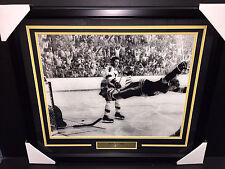 BOBBY ORR THE GOAL 16X20 FRAMED PHOTO BOSTON BRUINS STANLEY CUP CHAMPIONS 1970