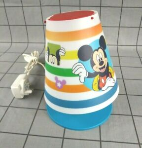 Disney Mickey Mouse Bedside Lamp Table Light Childrens LED Mains Powered