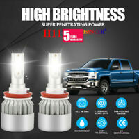 H11 H8 H9 1800W 270000LM LED Headlight Bulbs Conversion Kit 6000K High Low Beam