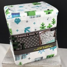 Minecraft Christmas Full Flannel Sheet Set - 4 Pieces