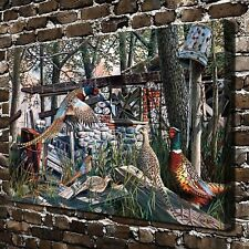 "Pebble and Pheasant HD Canvas Print 20""x30"" Home Decor Room Wall Art Picture"