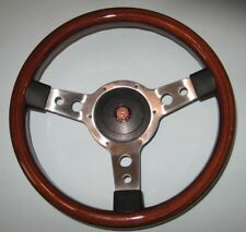 "New 13"" Solid Wood Steering Wheel & Hub Adaptor Austin Healey Sprite 1964-1967"