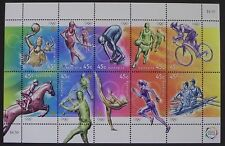 MINT 2000 OLYMPIC SPORTS 45C SHEETLET OF 10 MUH