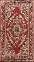 Antique Floral Traditional Area Rug Hand-Knotted Oriental Red Wool Carpet 4x7