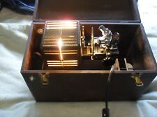 Antique / Vintage Bioscope 500 Series Microprojector With Original Wood Case
