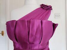 Señoras Boutique púrpura Raso Un Hombro Vestido Cóctel Baile de graduación Carreras Crucero 12