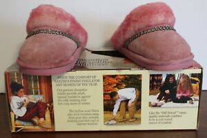 old friend Genuine Sheepskin Slippers Size L 8-9