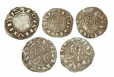 CRUSADERS. Bohemond III Silver Denier, 1163-1188 AD, Lot of 5