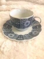 Lipper & Mann BLUE IMARI (L & M) Tea/Coffee Cup (Scalloped) and Saucer