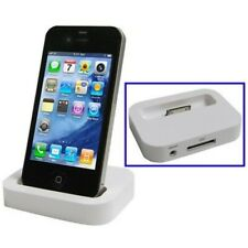 Dockingstation Ladestation Weiss Kompatibel Apple Iphone 3/3S und 4/4S mit 3,5 m