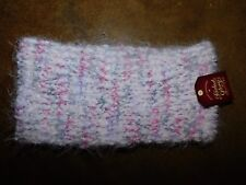 NWT ladies one size faded glory pink pastel cozy winter headband