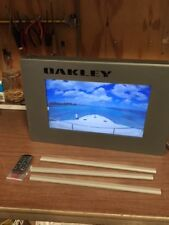 """Oakley Video/Graphic Two Sided Display 20"""" x 12.75"""" x 3""""/15.5"""" Screen Size Rare"""