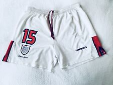 1997-98 England Umbro Match Issue Home Football Shorts #15 (Merson) Collectible