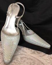 St John Shoe Light Blue Pyettes Low Heel Sling Size 37