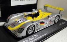 Minichamps 1/43 Scale 400 021302 Audi R8 24H Le Mans 2002 #2 2nd Place model car