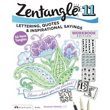 ZENTANGLE 11-Lettering-Quotes-Line Drawing Altered Art Paper Craft Idea Book