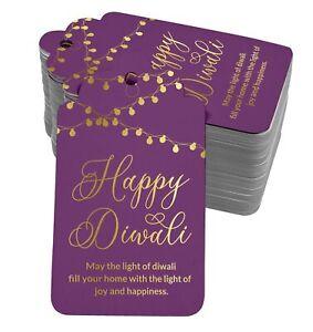 Happy Diwali Paper Tags Craft Foil Hang Tags-SH5_17BG
