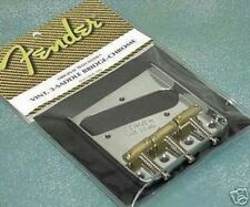 GENUINE FENDER 3 SADDLE '52 TELE BRIDGE PAT PEND TELECASTER USA GUITAR 1952 RI