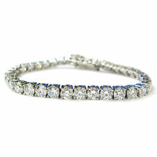 Tennis Excellent Cut White Gold SI1 Fine Diamond Bracelets